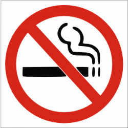 No Smoking clipart safety sign