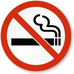 No Smoking clipart sticker