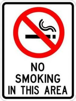 No Smoking clipart warning signs