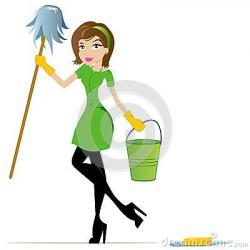 Women clipart cleaning bathroom