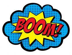Boom clipart superhero