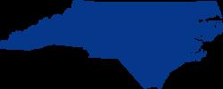 North Carolina clipart North Carolina Outline Blue