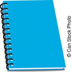 Notebook clipart blue spiral