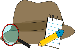 Notebook clipart detective