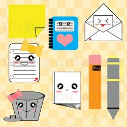 Notebook clipart office stationery
