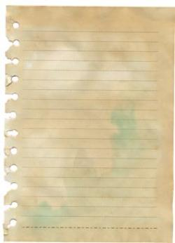 Old Letter clipart notepad paper