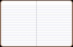 Notebook clipart open