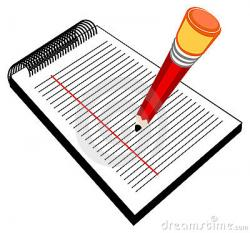 Pen clipart writing pad
