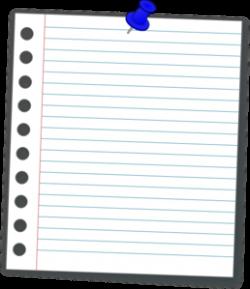 Notebook clipart piece paper
