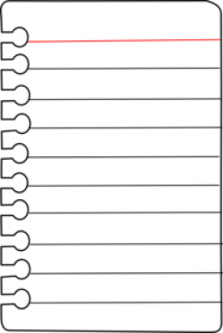 Paper clipart notepad