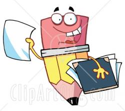 Notebook clipart research report
