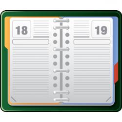 Notebook clipart school agenda