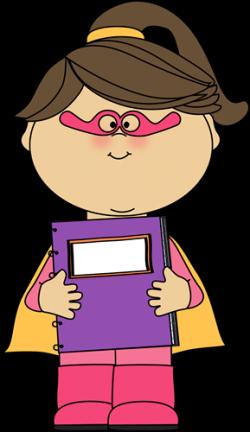 Notebook clipart superhero