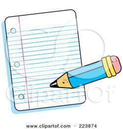 Notebook clipart written note