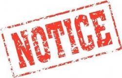Notice clipart