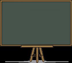 Blackboard clipart outline