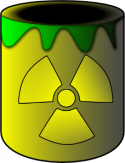 Radioactive clipart nuclear waste
