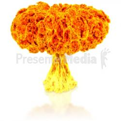 Explosions clipart nuclear explosion