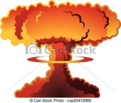 H-bomb clipart destruction