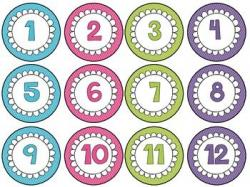 Number clipart circle clipart