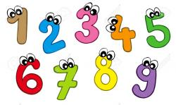 Number clipart decorative