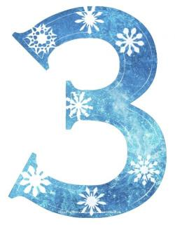 Number clipart frozen