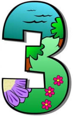 Number clipart individual number