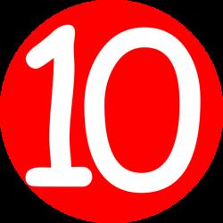Number clipart number ten
