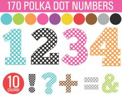 Number clipart polka dot number
