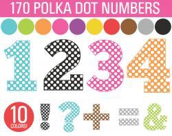 Number clipart polka dot number