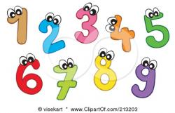 Number clipart preschool number