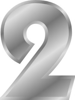 Number clipart silver