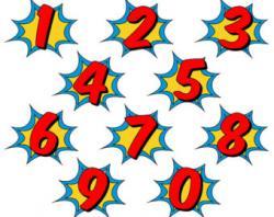 Number clipart superhero