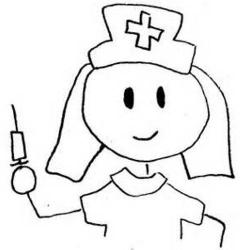 Nurse clipart black and white