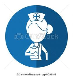 Nurse clipart shadow