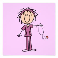 Nurse clipart stick figure