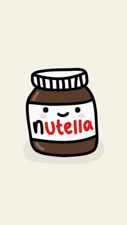 Drawn nutella iphone wallpaper