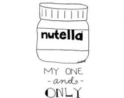 Drawn nutella drawing