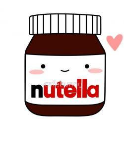 Drawn nutella bottle
