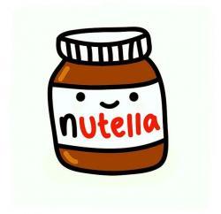 Drawn nutella nutella jar