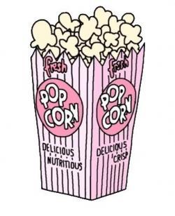 Drawn popcorn gambar