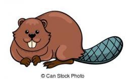 Beaver clipart realistic