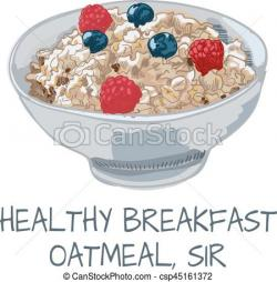 Oatmeal clipart healthy breakfast