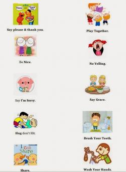 Target clipart list rules