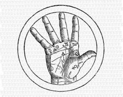 Occult clipart hand