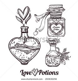 Occult clipart love potion