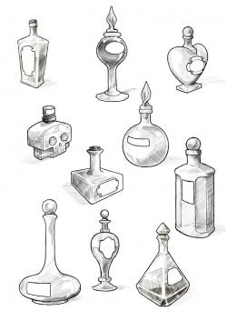 Occult clipart potion bottle