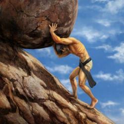 Mythical clipart sisyphus