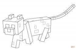 Drawn minecraft minecraft ocelot