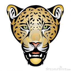 Ferocious clipart jaguar head